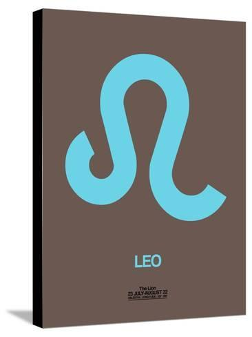 Leo Zodiac Sign Blue-NaxArt-Stretched Canvas Print