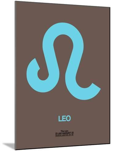 Leo Zodiac Sign Blue-NaxArt-Mounted Art Print