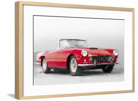 1960 Ferrari 250GT Pinifarina Watercolor-NaxArt-Framed Art Print