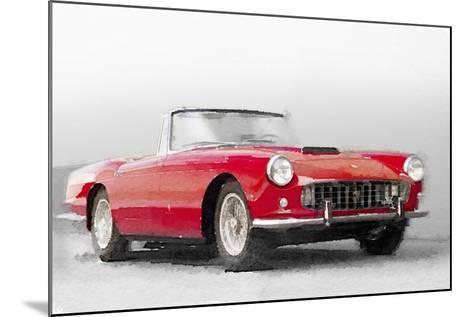 1960 Ferrari 250GT Pinifarina Watercolor-NaxArt-Mounted Art Print