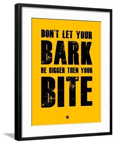 Bark and Bite Yellow-NaxArt-Framed Art Print