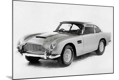 1964 Aston Martin DB5 Watercolor-NaxArt-Mounted Art Print