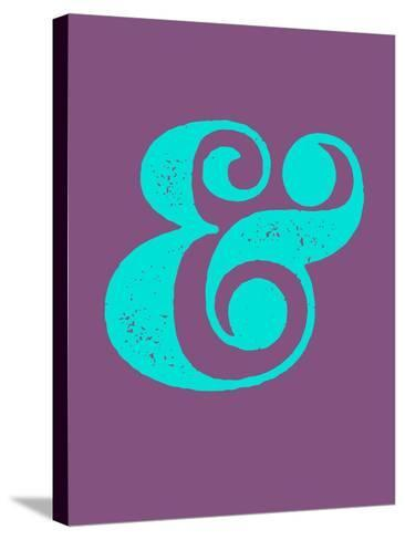 Ampersand Purple and Blue-NaxArt-Stretched Canvas Print