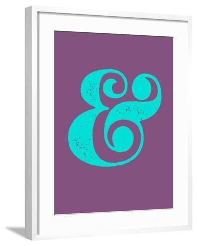 Ampersand Purple and Blue-NaxArt-Framed Art Print