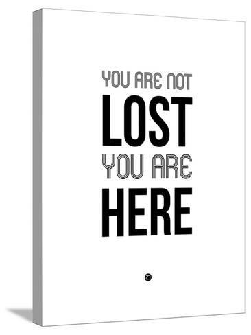 You are Not Lost White-NaxArt-Stretched Canvas Print