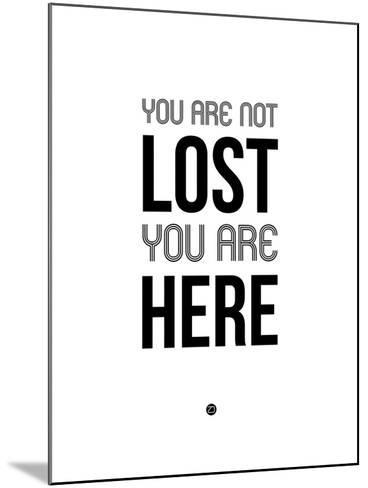 You are Not Lost White-NaxArt-Mounted Art Print