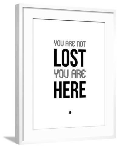 You are Not Lost White-NaxArt-Framed Art Print