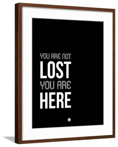 You are Not Lost Black and White-NaxArt-Framed Art Print