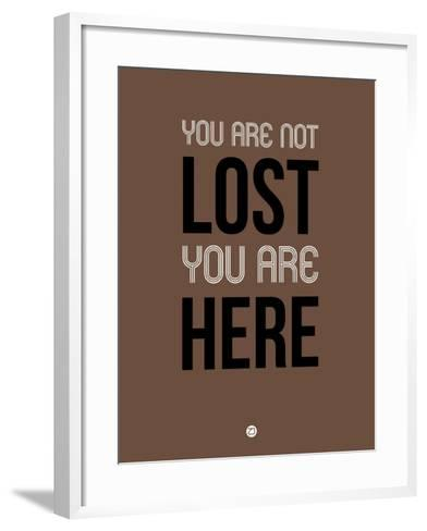 You are Not Lost Brown-NaxArt-Framed Art Print