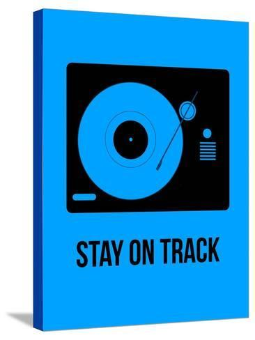 Stay on Track Blue-NaxArt-Stretched Canvas Print