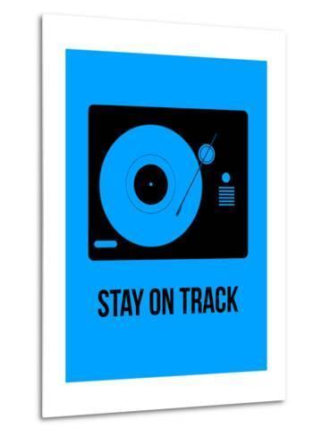 Stay on Track Blue-NaxArt-Metal Print