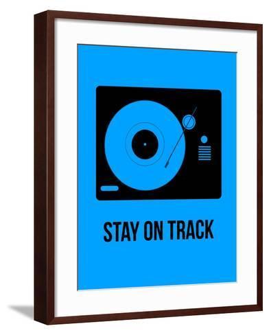Stay on Track Blue-NaxArt-Framed Art Print