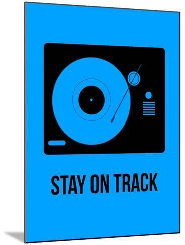Stay on Track Blue-NaxArt-Mounted Art Print