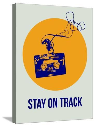 Stay on Track Circle 2-NaxArt-Stretched Canvas Print
