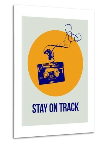 Stay on Track Circle 2-NaxArt-Metal Print