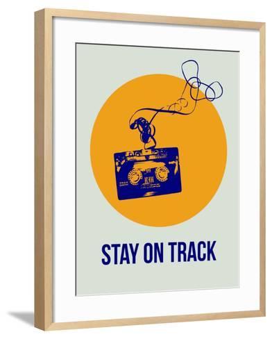 Stay on Track Circle 2-NaxArt-Framed Art Print