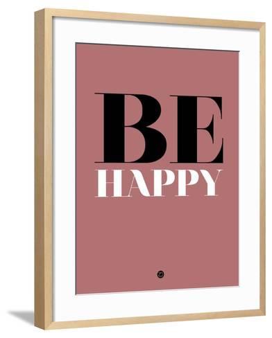 Be Happy 2-NaxArt-Framed Art Print