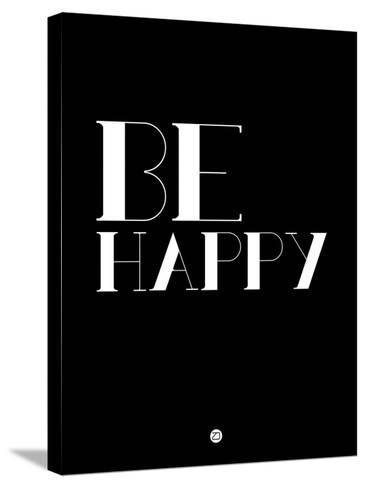 Be Happy 3-NaxArt-Stretched Canvas Print