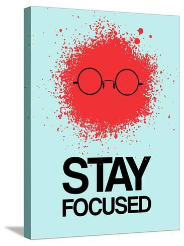 Stay Focused Splatter 1-NaxArt-Stretched Canvas Print