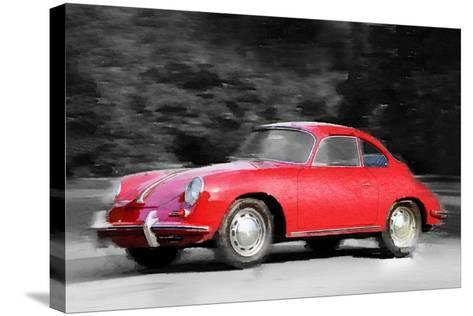 1963 Porsche 356 C Watercolor-NaxArt-Stretched Canvas Print