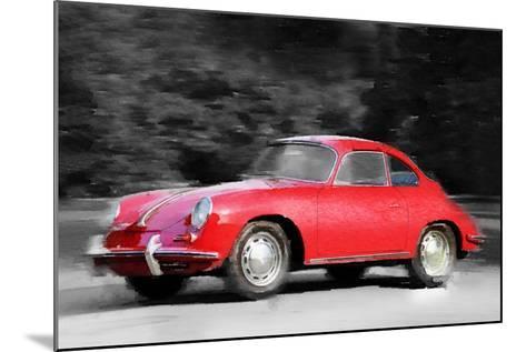 1963 Porsche 356 C Watercolor-NaxArt-Mounted Art Print