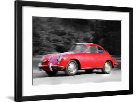1963 Porsche 356 C Watercolor-NaxArt-Framed Art Print