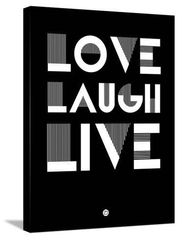 Love Laugh Live 2-NaxArt-Stretched Canvas Print