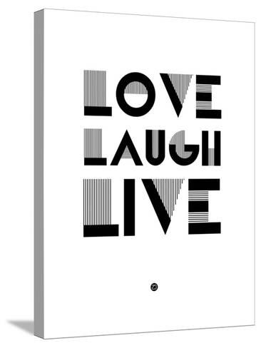 Love Laugh Live 3-NaxArt-Stretched Canvas Print