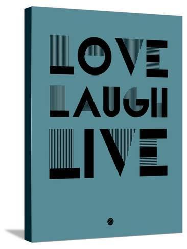 Love Laugh Live 4-NaxArt-Stretched Canvas Print