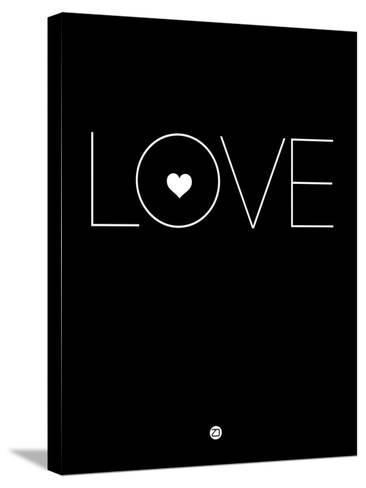 Love Black-NaxArt-Stretched Canvas Print