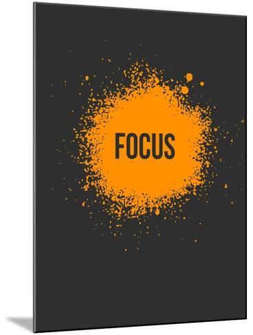 Focus Splatter 3-NaxArt-Mounted Art Print