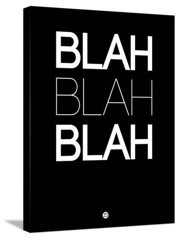 Blah Blah Blah Black-NaxArt-Stretched Canvas Print