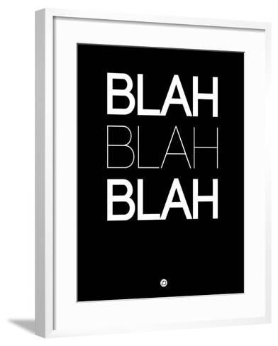 Blah Blah Blah Black-NaxArt-Framed Art Print