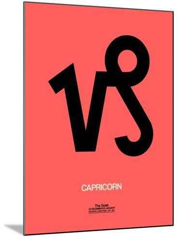 Capricorn Zodiac Sign Black-NaxArt-Mounted Art Print