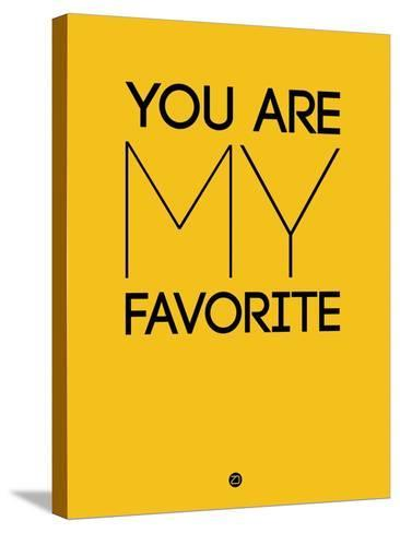 You are My Favorite Yellow-NaxArt-Stretched Canvas Print