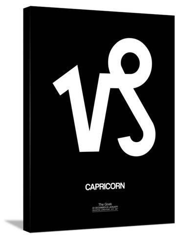 Capricorn Zodiac Sign White-NaxArt-Stretched Canvas Print