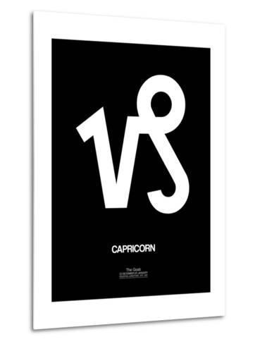 Capricorn Zodiac Sign White-NaxArt-Metal Print