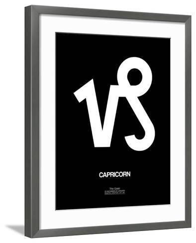 Capricorn Zodiac Sign White-NaxArt-Framed Art Print