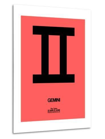 Gemini Zodiac Sign Black-NaxArt-Metal Print
