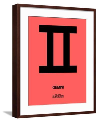 Gemini Zodiac Sign Black-NaxArt-Framed Art Print