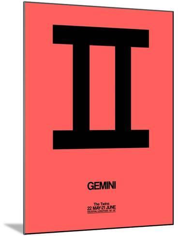 Gemini Zodiac Sign Black-NaxArt-Mounted Art Print