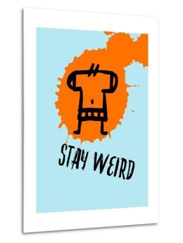Stay Weird 1-Lina Lu-Metal Print