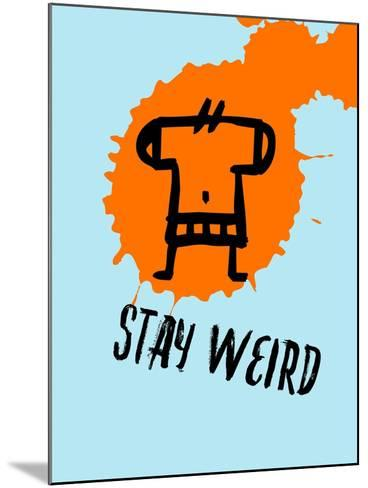 Stay Weird 1-Lina Lu-Mounted Art Print