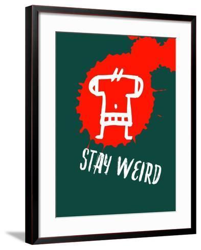 Stay Weird 2-Lina Lu-Framed Art Print