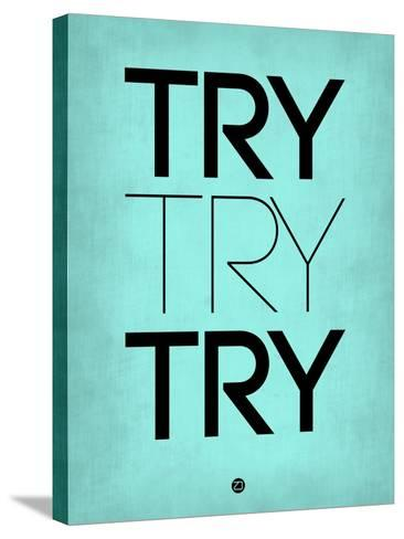 Try Try Try Blue-NaxArt-Stretched Canvas Print