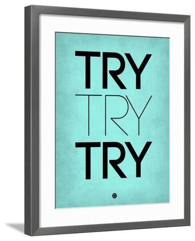 Try Try Try Blue-NaxArt-Framed Art Print