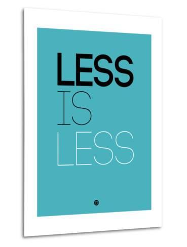 Less Is Less Blue-NaxArt-Metal Print