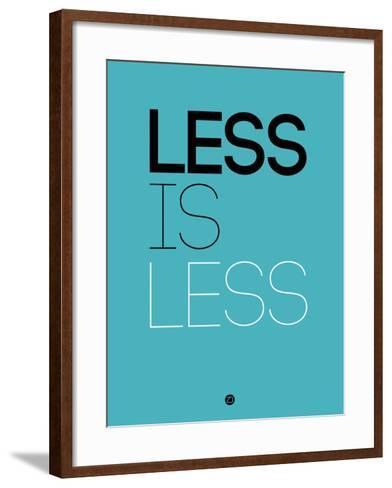 Less Is Less Blue-NaxArt-Framed Art Print