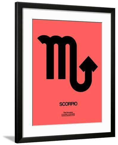 Scorpio Zodiac Sign Black-NaxArt-Framed Art Print