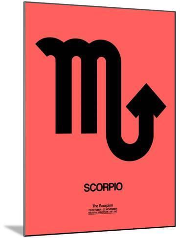 Scorpio Zodiac Sign Black-NaxArt-Mounted Art Print
